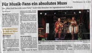 Blue Stuff Records - Party - WP-Artikel (2014-12-02)